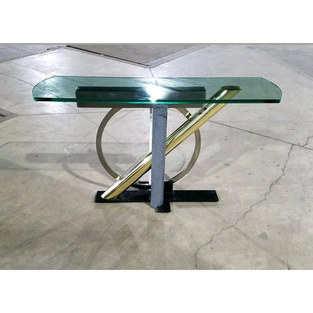 The table is in great condition with age appropriate wear and dates from the 1970's-80's. It has a wonderful modernist...