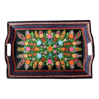 Big Floral Olinala Tray For Sale