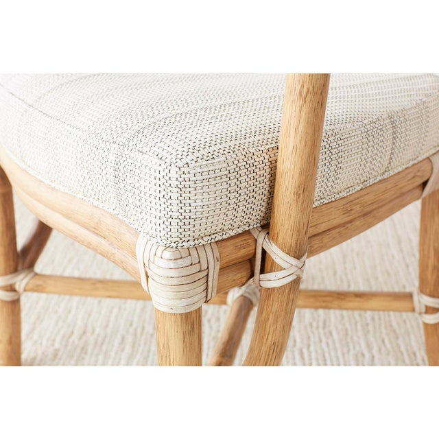 Pair of McGuire Organic Modern Bamboo Rattan Armchairs For Sale - Image 10 of 13