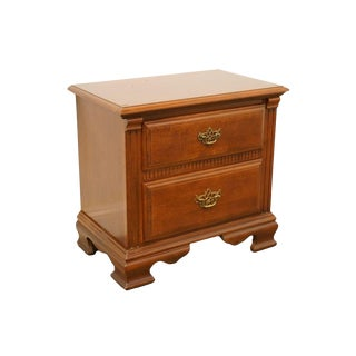 20th Century French Stanley Furniture Cherry Nightstand For Sale