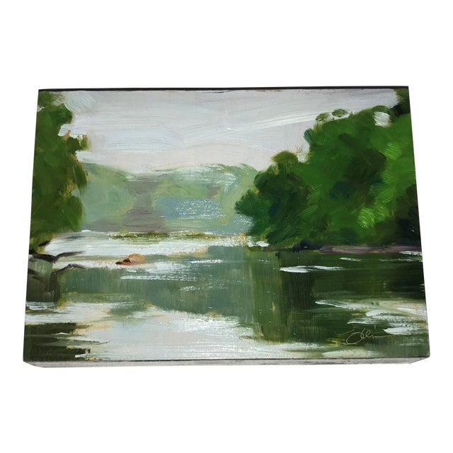 Miniature Landscape Oil Painting - Image 1 of 4