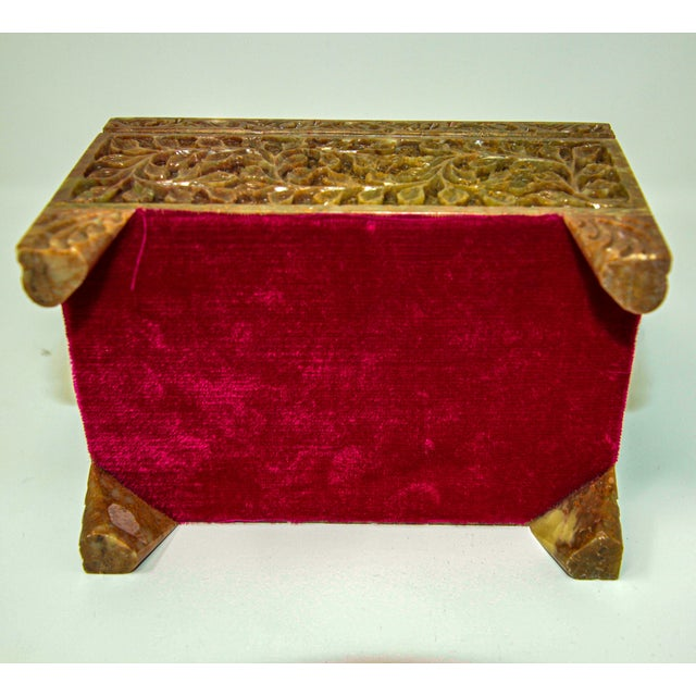 Hand-Carved Stone Jewelry Box Rajasthan, India For Sale In Los Angeles - Image 6 of 13