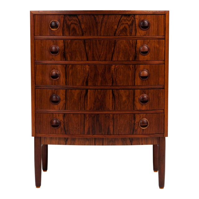 Vintage Rosewood Chest of Drawers by Kai Kristiansen 1960s For Sale