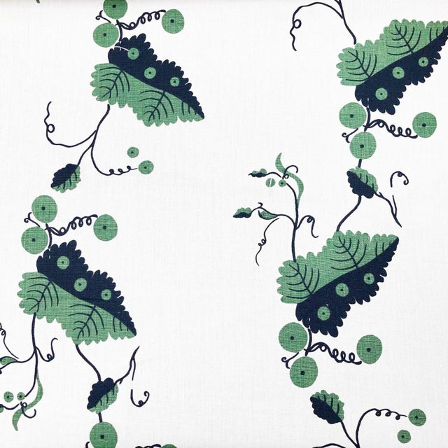 Boho Chic Boho Chic Nicholas Haslam Greenbrier Linen Designer Fabric by the Yard For Sale - Image 3 of 3
