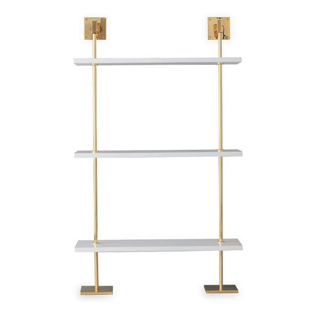 Port 68 Marais 3-Tier White & Gold Shelf For Sale - Image 4 of 4