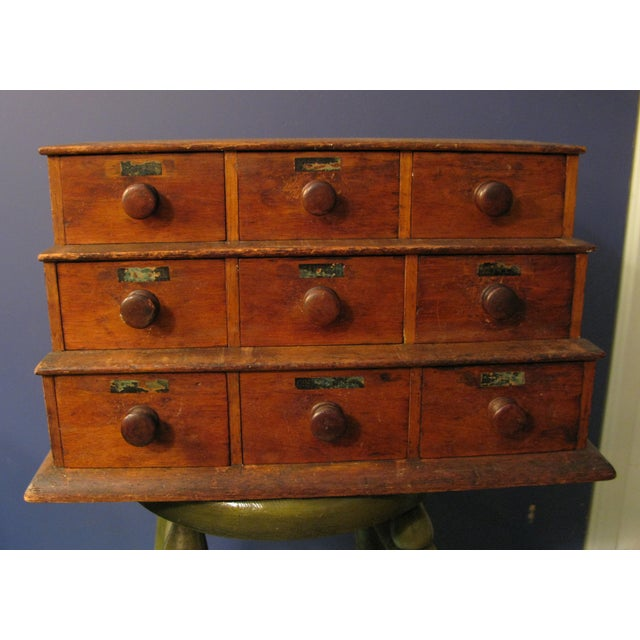 Early Original Graduated Apothecary Drawers - Image 2 of 11