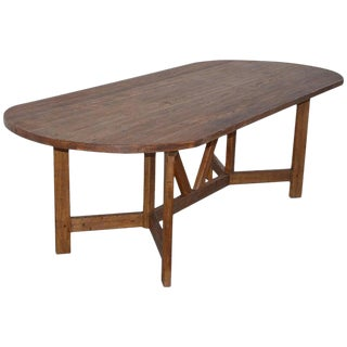 Farm Table in Vintage Fir, Custom Made by Petersen Antiques For Sale