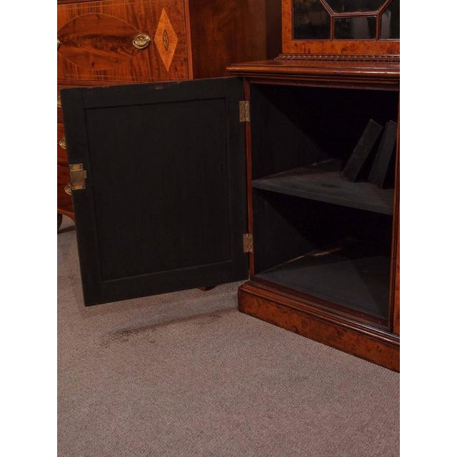 Brown Antique English Bookcase For Sale - Image 8 of 10