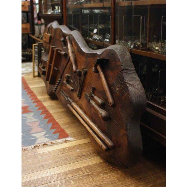 This Boatman's tool set was salvaged from Anthony's Pier 4 from Boston, Mass.