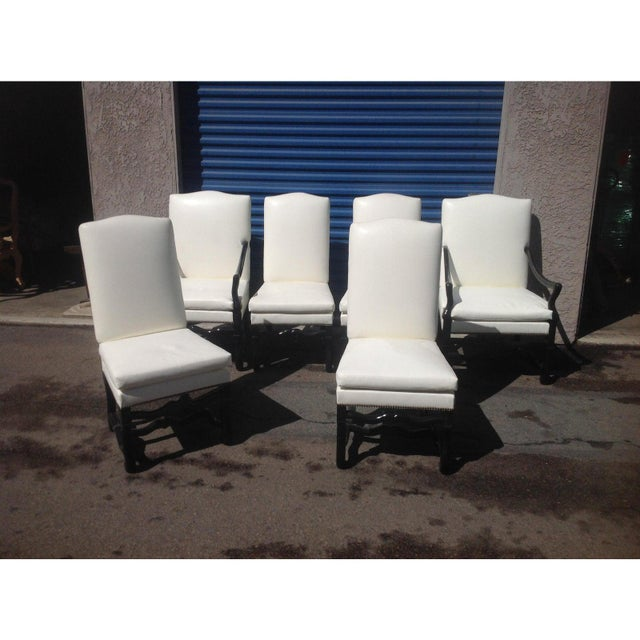 Tuscan Style Dining Chairs - Set of 6 For Sale - Image 4 of 5