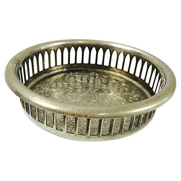 Vintage Pierced Bottle Coaster - Image 1 of 3