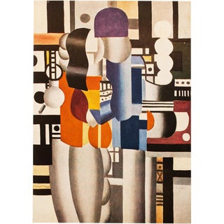 "1948 Fernand Léger ""Man and Woman"" Original Period Parisian Lithograph For Sale"