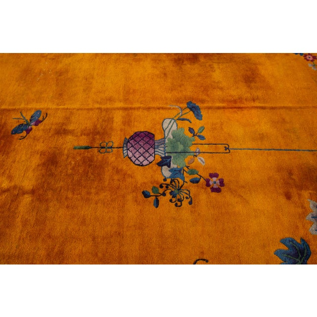 """Apadana-Antique Chinese Rug, 8'10"""" X 11'10"""" For Sale - Image 9 of 10"""