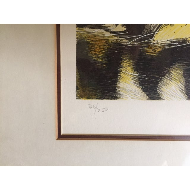 Huge Jaguar Lithograph by Martin Katon For Sale - Image 5 of 8