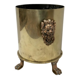 WWI Brass Shell Casing Champagne Ice Bucket For Sale