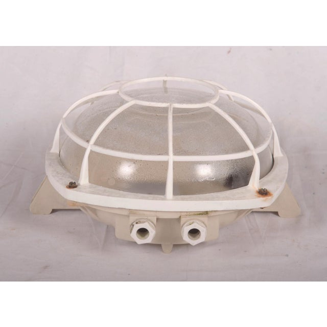 Plastic Industrial wall or ceiling lamp made of plastic, 1970s For Sale - Image 7 of 8