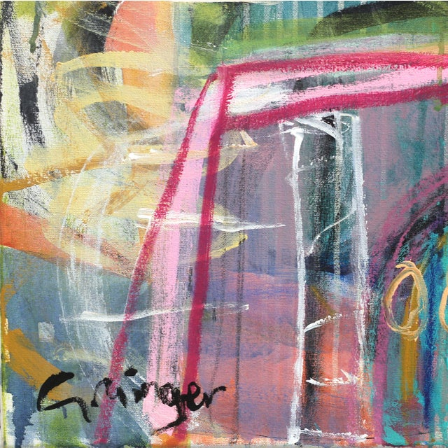 "2010s ""Honey"" Original Mixed Media Artwork by Lesley Grainger For Sale - Image 5 of 8"