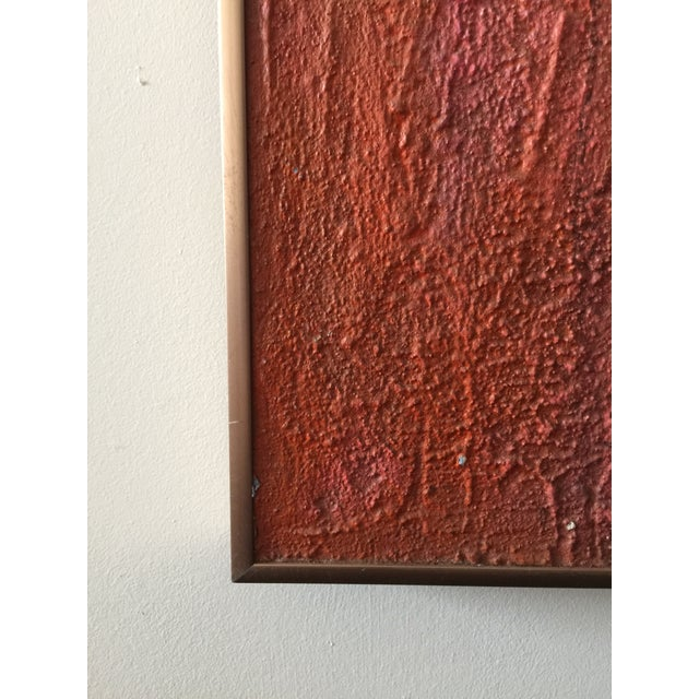 Abstract Large Mid Century Modern Abstract Geometric Painting For Sale - Image 3 of 4