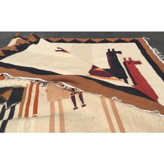 Vintage Peruvian Textile Wall Hanging Alpaca Parade - Image 3 of 11