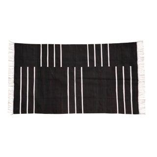 Hornbeam Rug, 5x8, Black & White For Sale