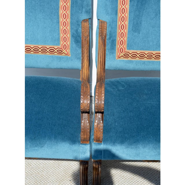 Louis XIV Style Os De Mouton Armchairs, a Pair For Sale - Image 6 of 12