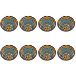 Versace La Mer Rosenthal China Charger Plates - Set of 8 For Sale