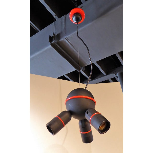 Roger Tallon for LIFA, French 70s Suspension Mod Op Pop Pendant For Sale - Image 9 of 10