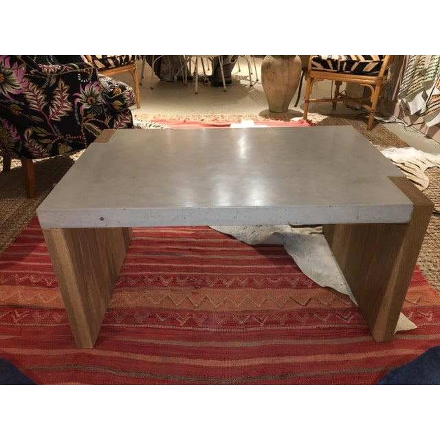 Concrete Top Coffee Table For Sale - Image 4 of 8
