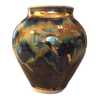 Gold Glazed Pottery Vase
