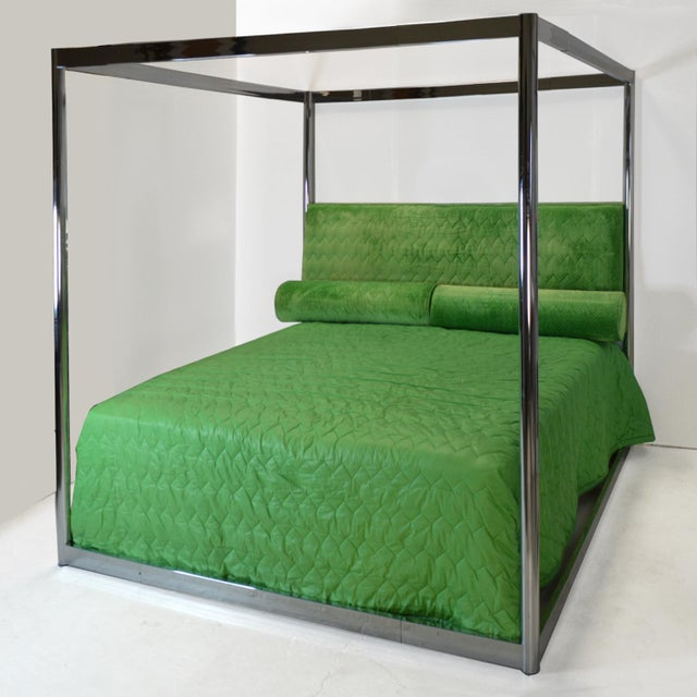 Steve Chase Custom 4 Poster Canopy Bed 1976 For Sale - Image 10 of 11