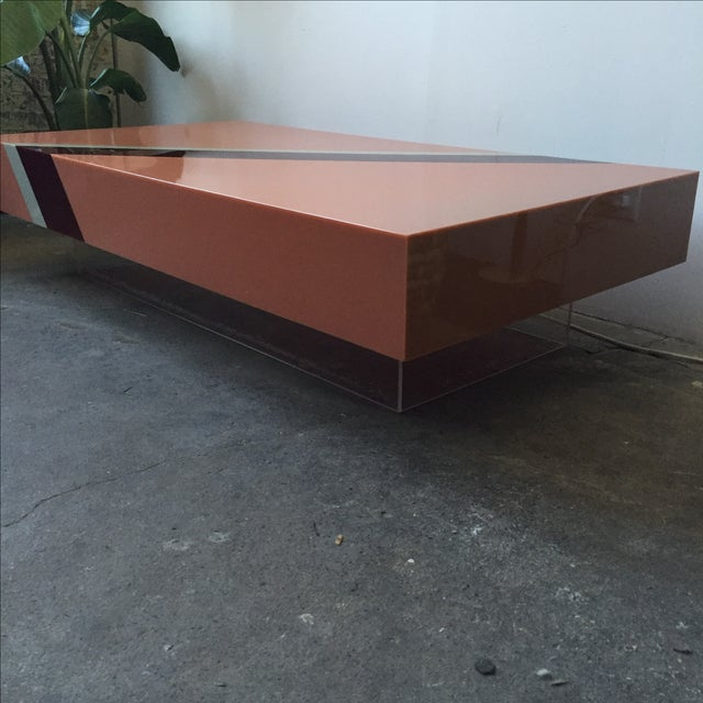 Vintage Pink Mica & Lucite Cocktail Table - Image 10 of 10