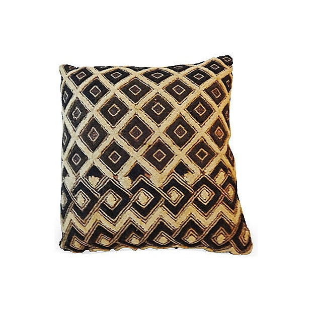 African African Kuba Pillow For Sale - Image 3 of 5
