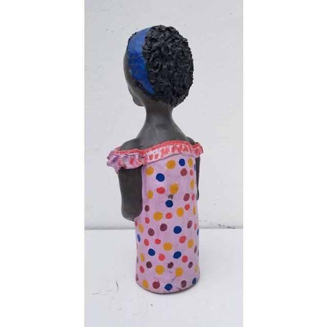 1980s Brazilian Female Sculpture For Sale - Image 4 of 13