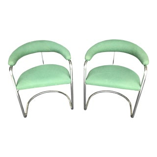 1950s Vintage Anton Lorenz for Thonet Chrome Chairs - A Pair For Sale