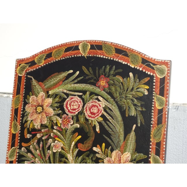 Wood Vintage French Country Maitland Smith Style Wall Panels Floral Pictures For Sale - Image 7 of 12