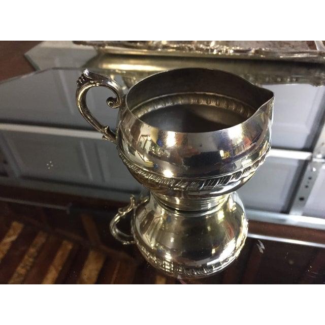 Art Nouveau Silver-Plate Tea Set - 4 Pc. Set For Sale - Image 4 of 11