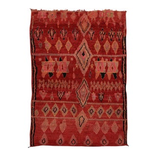 Mid-Century Modern Vintage Berber Moroccan Rug with Modern Tribal Design