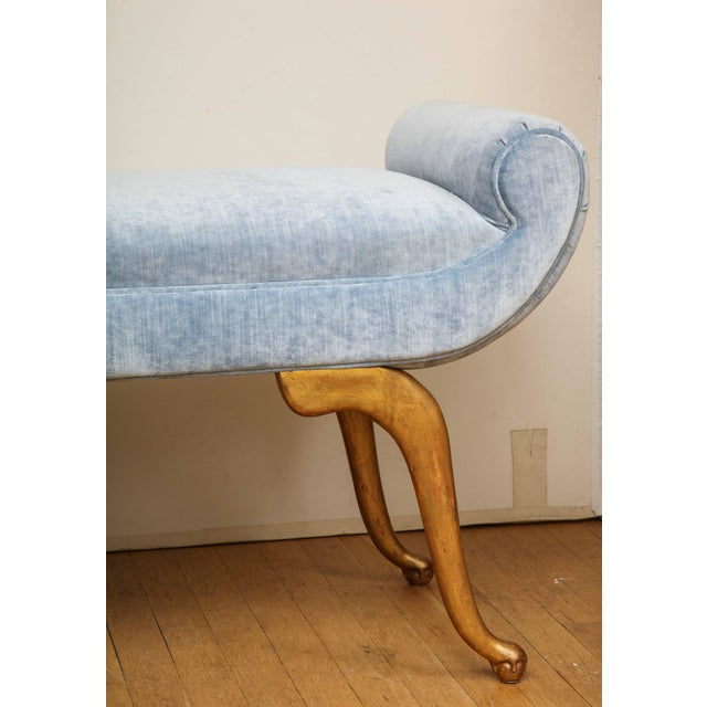 Add a touch of glamour to a room with this chic Italian bench. The giltwood cabriole legs support a scrolled seat in a...