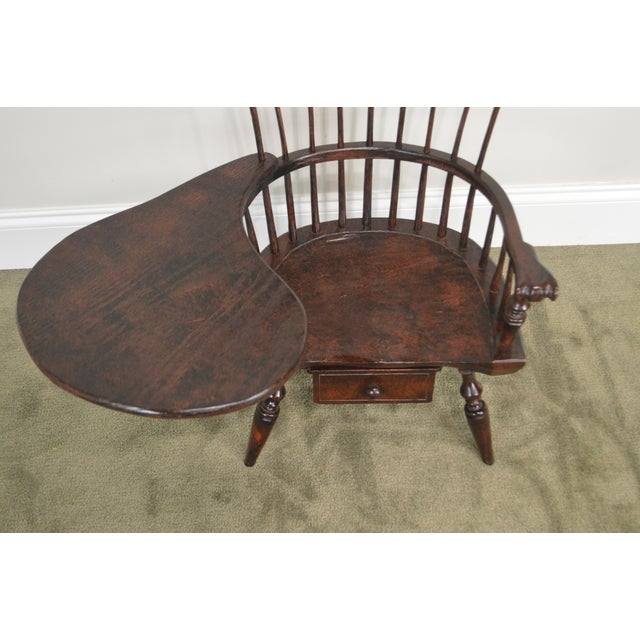 1990s Windsor Style Miniature Childs Writing Arm Chair by K. Malone (18th Century Reproduction) For Sale - Image 5 of 13
