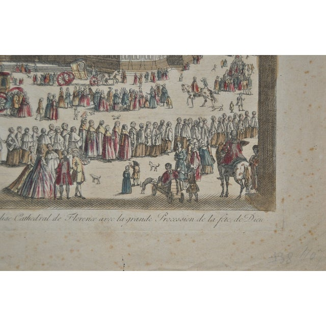 Antique Hand Colored Engraving of Florence, Italy - Image 7 of 8