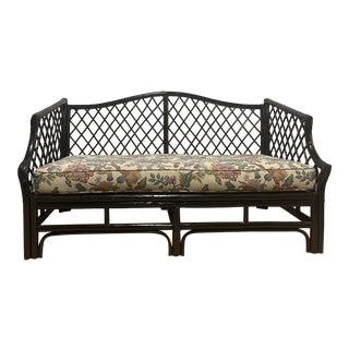 1960s McGuire Rattan Sofa For Sale