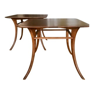 Pair of Saber-Legged Side Tables by Th Robsjohn Gibbings Mid Century Elegance For Sale