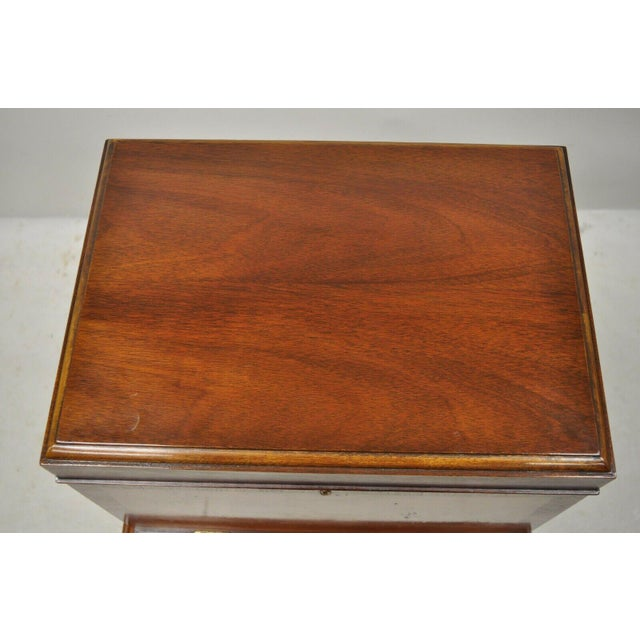 Brown Hickory Chair Co. Mahogany & Burlwood Queen Anne Silverware Silver Chest For Sale - Image 8 of 13