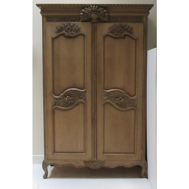 Early 20th Century French Louis XV Style Carved Mahogany Wood Wall Cabinet/Armoire For Sale - Image 13 of 13