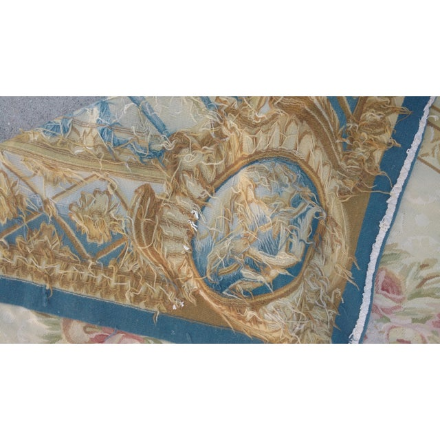 Antique French Aubusson Rug - 9′3″ × 10′3″ - Image 6 of 7