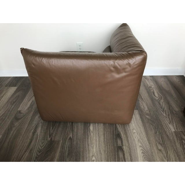 Brown Guido Faleschini Original Italian Leather Mid-Century Modern Modular Sectional For Sale - Image 8 of 12