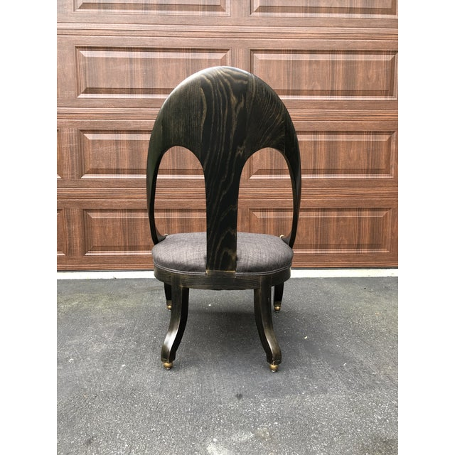 Mid Century Maitland Smith Style Accent Chair For Sale - Image 4 of 9