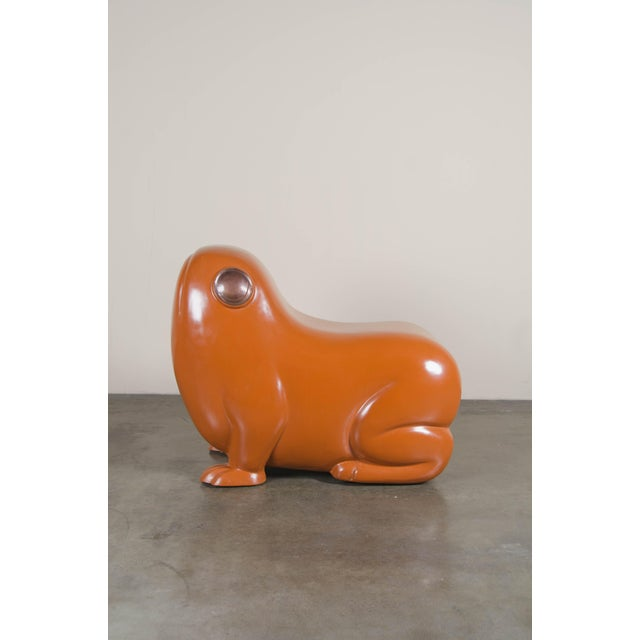 Orange Frog Seat - Mila Lacquer by Robert Kuo For Sale - Image 8 of 8