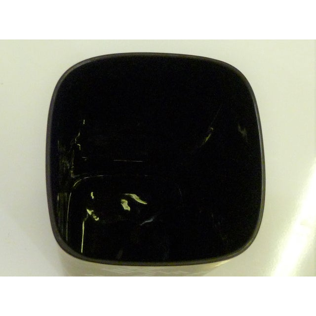 1960s Modern Tapio Wirkkala Porcelaine Noire Vessel for Rosenthal in Matte Black and Gold For Sale - Image 9 of 12