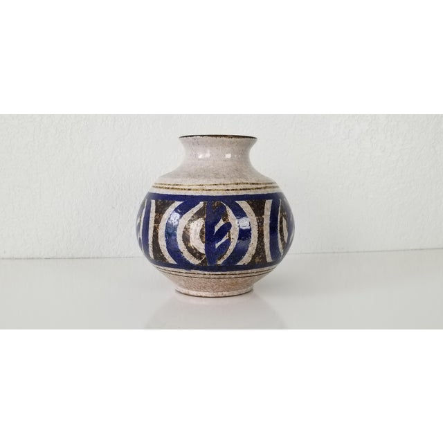 White Mid-Century Stoneware Pottery Vase For Sale - Image 8 of 8